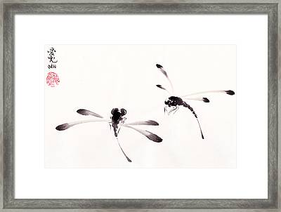 Dance Of The Dragonflies Framed Print by Oiyee At Oystudio