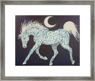 Dance Of The Moon Horse Framed Print by Beth Clark-McDonal