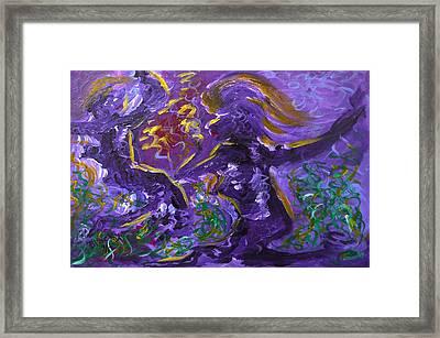 Dance Of The Sugar Plum Fairies Framed Print by Donna Blackhall