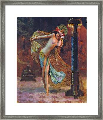 Dance Of The Veils Framed Print by Gaston Bussiere