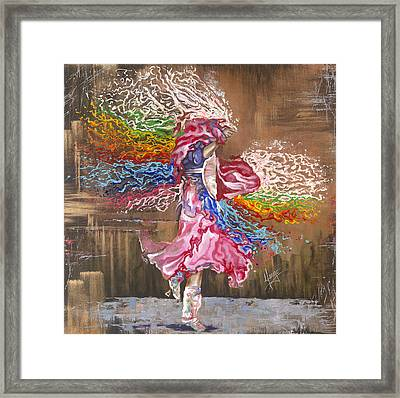 Dance Through The Color Of Life Framed Print by Karina Llergo Salto