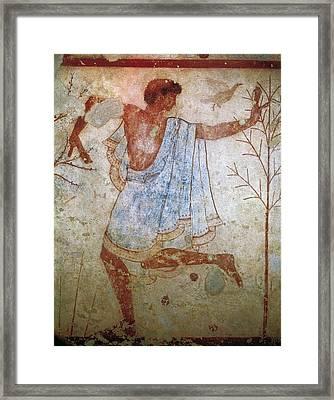 Dancer. Detail Of A Banquet Scene Framed Print by Everett