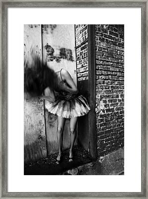 Dancer In The Alley Framed Print by Jon Van Gilder