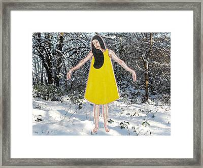 Dancer In The Snow Framed Print by Patrick J Murphy