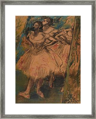 Dancer In The Wing Framed Print by Edgar Degas