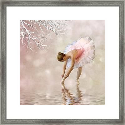 Dancer In Water Framed Print by Sharon Lisa Clarke
