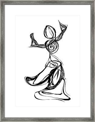 Dancer Framed Print by Michael Lee