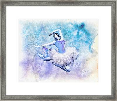Dancer Framed Print by Mo T