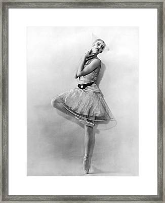 Dancer Nikitina At Monte Carlo Framed Print by Underwood Archives