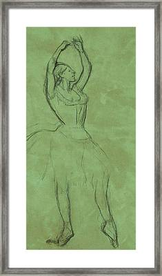 Dancer With Raised Arms Framed Print by Edgar Degas