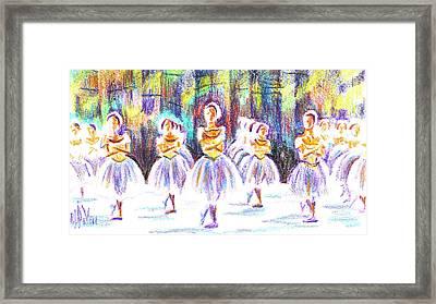 Dancers In The Forest II Framed Print by Kip DeVore