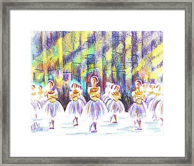 Dancers In The Forest Framed Print by Kip DeVore