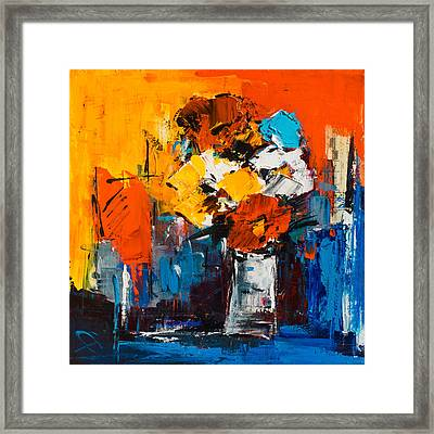 Dancing Colors Framed Print by Elise Palmigiani
