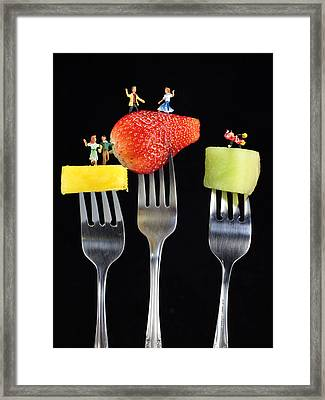 Dancing Dancing Dancing Framed Print by Paul Ge