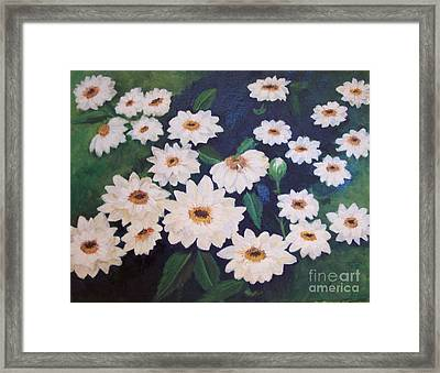 Dancing Dasies Framed Print by Lucia Grilletto