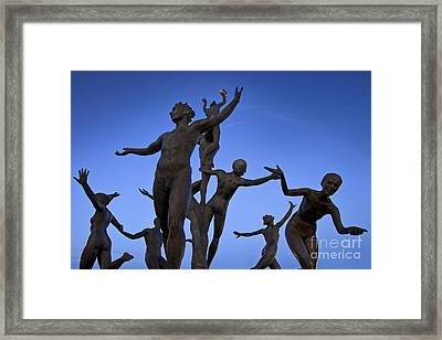 Dancing Figures Framed Print by Brian Jannsen