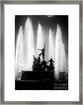 Dancing Fountain Framed Print by John Rizzuto