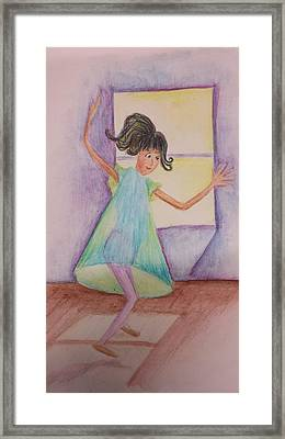Dancing Girl Framed Print by Cherie Sexsmith