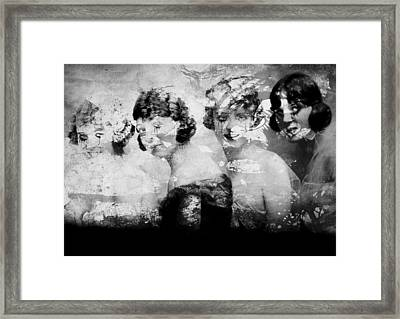 Dancing Girls Framed Print by JC Photography and Art