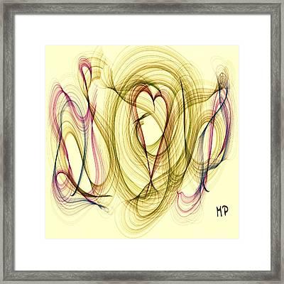 Dancing Heart Framed Print by Marian Palucci-Lonzetta