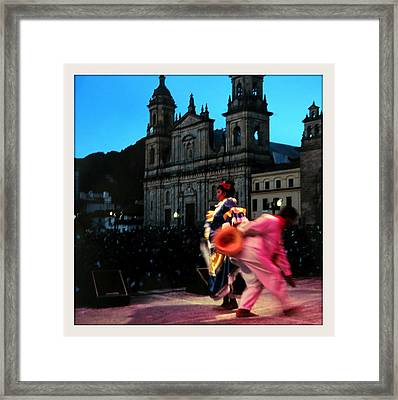 Dancing In Bogota Framed Print by Daniel Gomez
