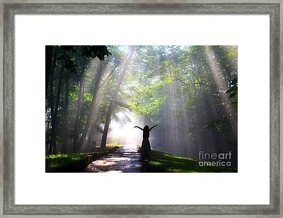 Dancing In God's Light Copyright Willadawn Photography Framed Print by Melissa Petrey