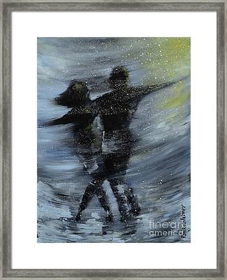 Dancing In The Night Framed Print by Roni Ruth Palmer