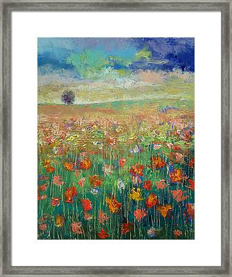 Dancing Framed Print by Michael Creese