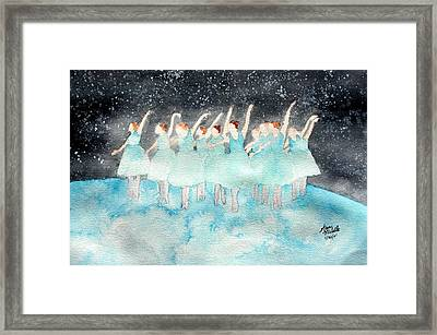 Dancing On Top Of The World Framed Print by Ann Michelle Swadener