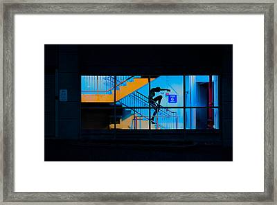 Dancing To Floor G Night People Framed Print by Bob Orsillo