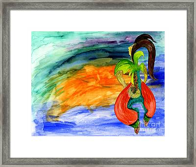 Dancing Tree Of Life Framed Print by Mukta Gupta