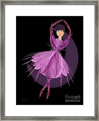 Dancing With The Moon A Framed Print by Andee Design
