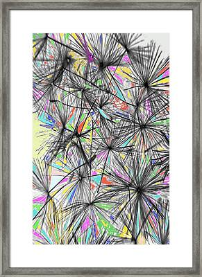 Dandelion Seeds - Abstract Framed Print by Marianna Mills