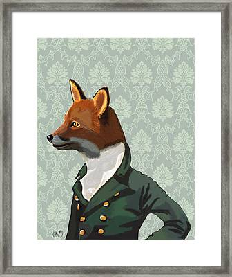 Dandy Fox Portrait Framed Print by Kelly McLaughlan