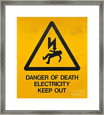 Danger Of Death - Electricity Framed Print by Shawn Hempel