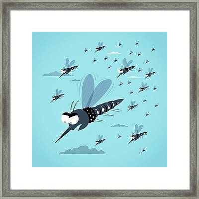 Dangerous Mosquitos Framed Print by Mark Airs
