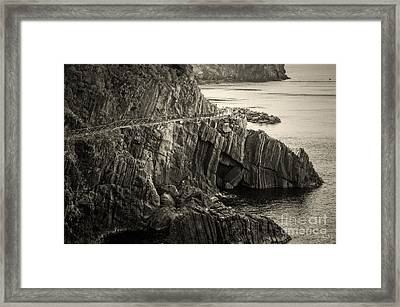 Dangerous Passage Of Cinque Terre Framed Print by Prints of Italy