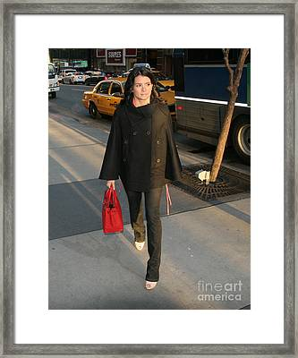 Danica Patrick Nyc Framed Print by Patrick Morgan