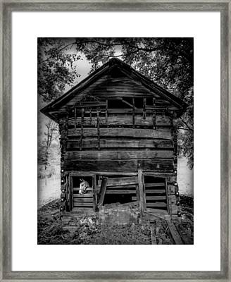Daniel Boone Cabin Framed Print by Karen Wiles