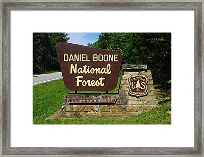 Daniel Boone Framed Print by Frozen in Time Fine Art Photography