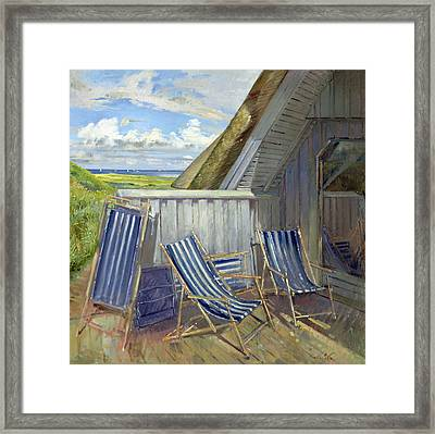 Danish Blue, 1999-2000 Oil On Canvas Framed Print by Timothy Easton