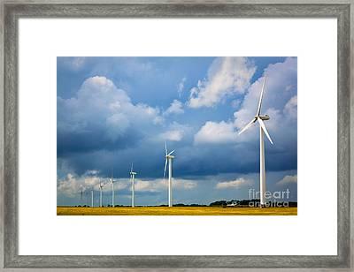 Danish Wind Turbines Framed Print by Inge Johnsson