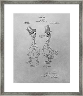 Danny Daddles Patent Drawing Framed Print by Dan Sproul