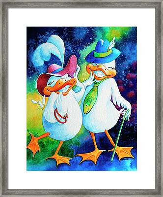 Dapper Duckies Framed Print by Hanne Lore Koehler