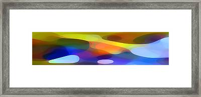 Dappled Light Panoramic 1 Framed Print by Amy Vangsgard
