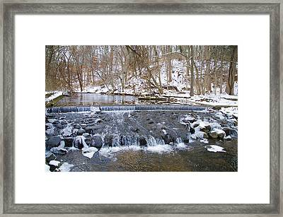 Darby Creek Waterfall Framed Print by Bill Cannon