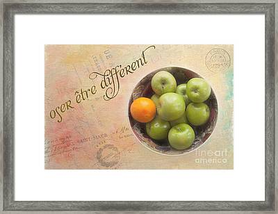 Dare To Be Different Framed Print by Kay Pickens