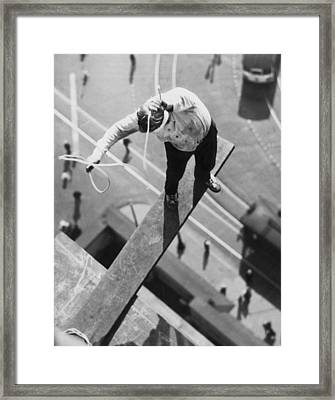 Daredevil Workout Framed Print by Underwood Archives
