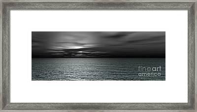 Dark Black Sea Framed Print by Bedros Awak