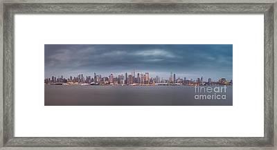 Gotham City Framed Print by Abe Pacana